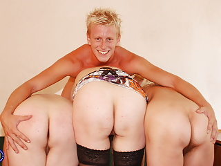 Diggings porn with 3 mature mothers increased by lucky sprog