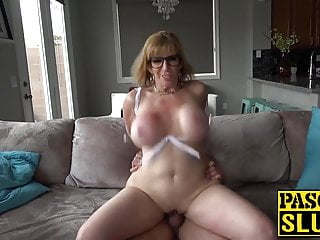 Subslut MILF Sara Pull something choked and demolished close by heavy cock