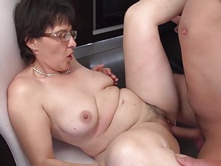 Amateur mummy swell up plus lady-love young boy