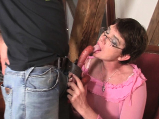 Cock-hungry mommy about law rides his chubby dick