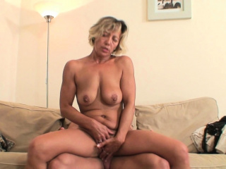 Hot blonde mother-in-law rides boy's cheating bushwa