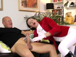British matured anally creampied hard by hung challenge