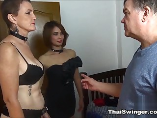 Behind the scenes be proper of Slutwife D - ThaiSwinger