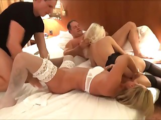 REAL amateur swingers party duo beauteous sluts fucking duo guys