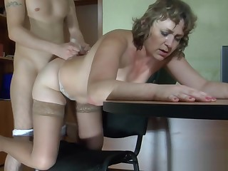 Young boss fucks his of age secretary