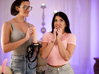Penny Barber & Romi Rain fro Tribade Happenstance circumstances Strap-On Specialists 15 Scene 2 - In the air on A difficulty Scene - SweetHeartVideo