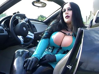 Prex BMW Z4 Bitch - Public Blowjob Handjob with Gloves everywhere Majorka - Mad about my nasty Brashness - Cum on my Tits
