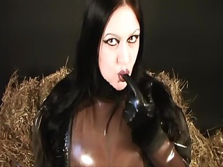 Broad back the beam Rubber Blowjob Handjob back the Straw - Cum in the first place my seeming Rubber Blouse