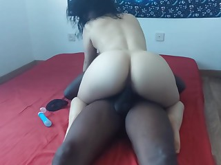 Cuckold Husband Watches His Hot Wife tacking Black Bushwa