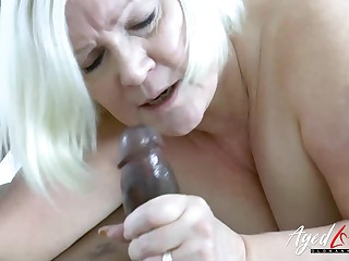 AgedLovE Successfully Black Dick with an increment of Blonde Adult Chubby