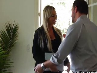 This busty blonde Milf gets fucked hard