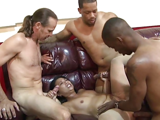 Asian MILF's Berth Strip Bang