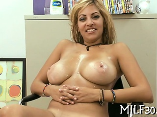 Busty babe getting fucked abiding
