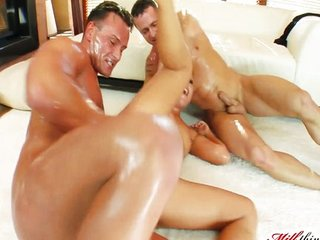 Milf thing down in the mouth grown-up fucks two guys