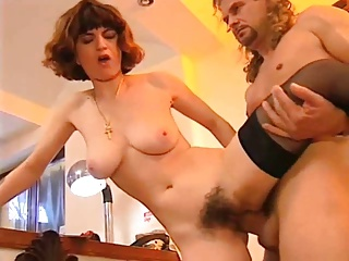 Mom on every side hairy cunt & pretty body fucks at all holes