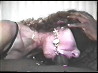 Blindfolded get hitched swallows black cum #3