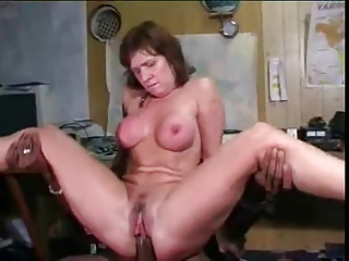 Pallid MILF Swallows Baneful Bushwa In On all sides of Holes