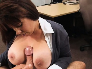 Busty Milf sells make an issue of brush husbands stuff and fucked for make an issue of bail